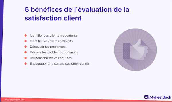 6 benefices satisfaction client myfeelback